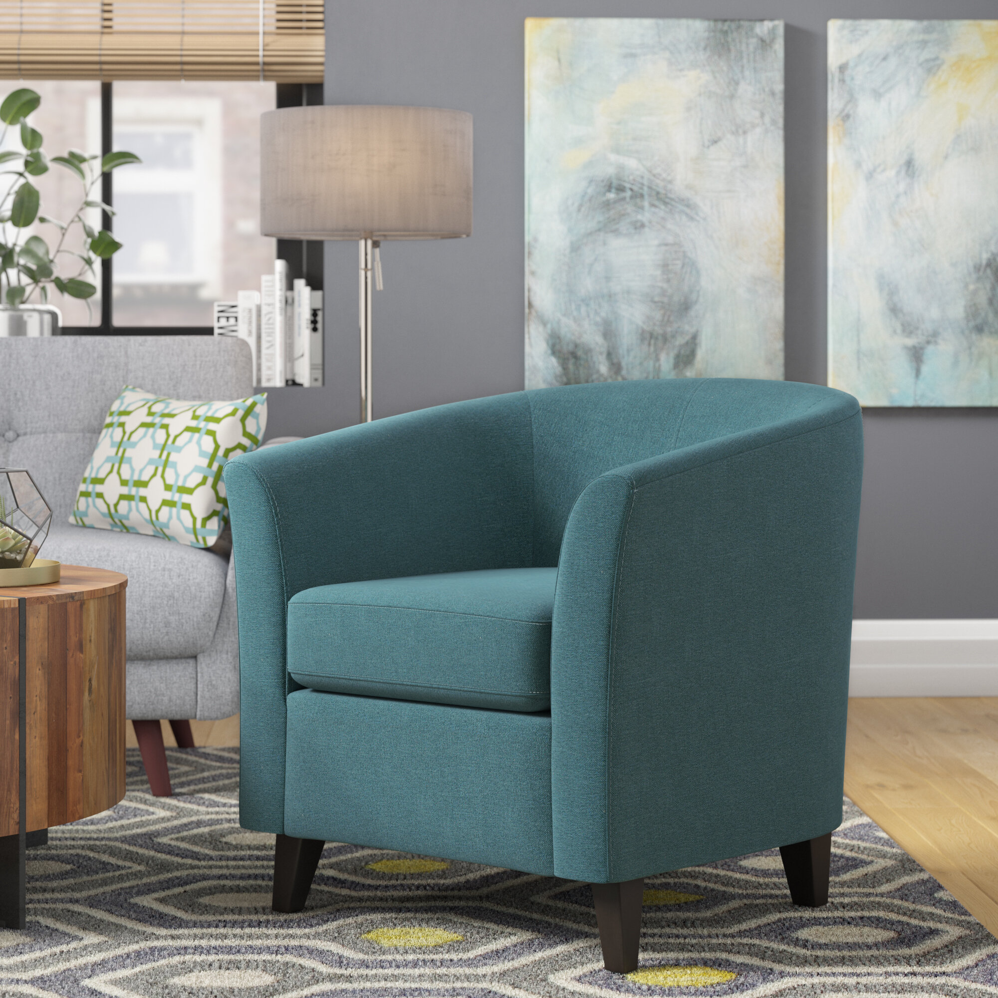 Latitude Run Dorset Barrel Chair & Reviews | Wayfair
