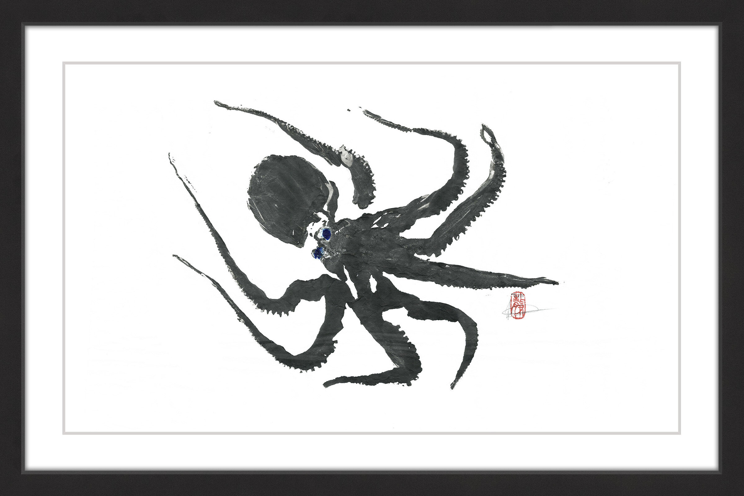 Marmont Hill \'Hunting Octopus\' Framed Painting Print | Wayfair