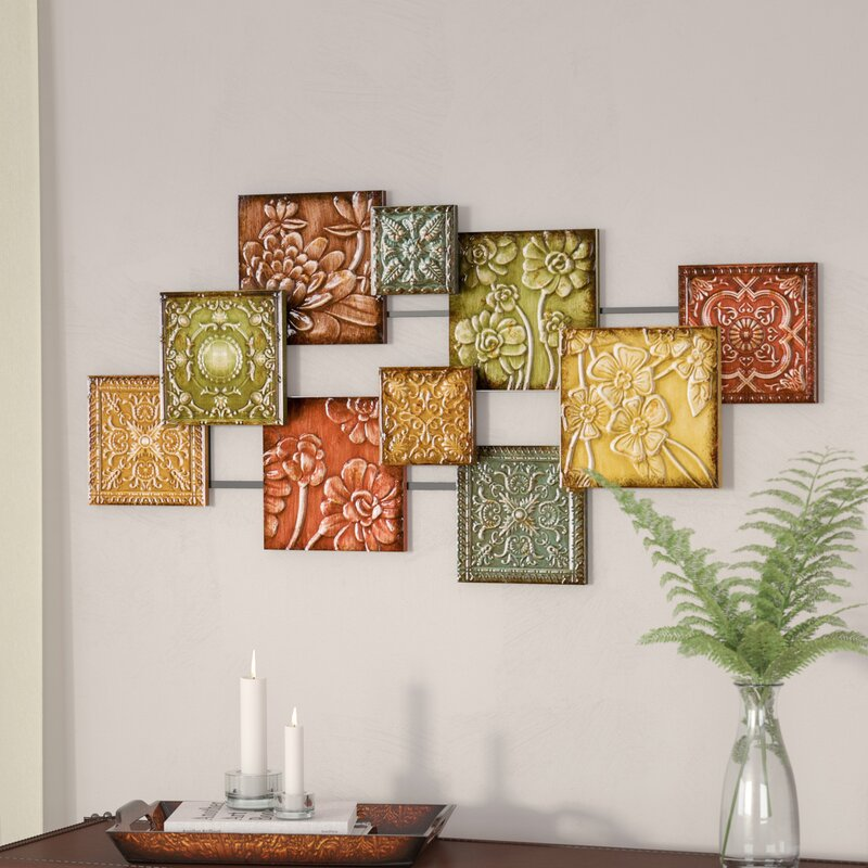 Three Posts Bijou Square Panel Wall Décor & Reviews
