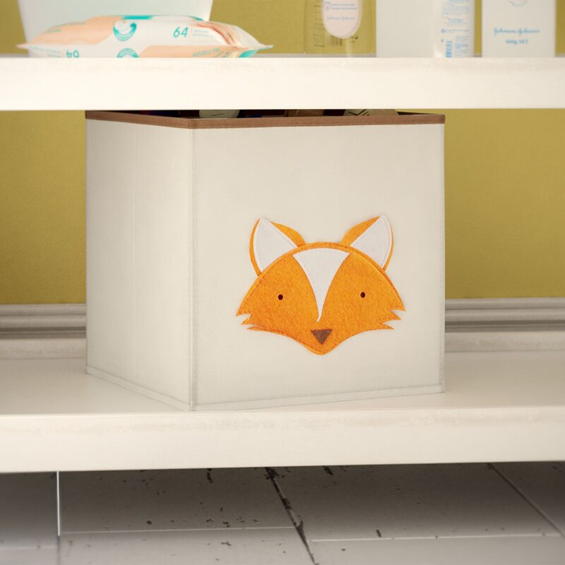 Fox Square Toy Storage Bin