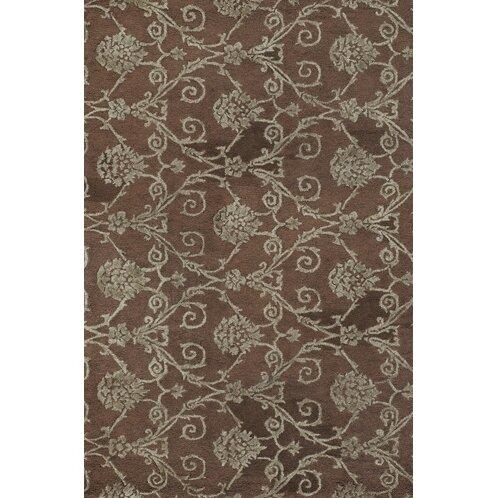 Alcott Hill Bertram Hand-Tufted Jute/Sisal Brown/Grey Area Rug, Size: Rectangle 79 x 106