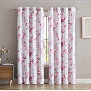 Floral Pink Curtains Drapes Youll Love Wayfair