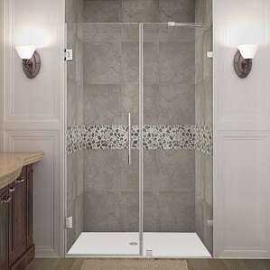 Nautis 48  x 72  Hinged Completely Frameless Shower Door : 48 door - pezcame.com