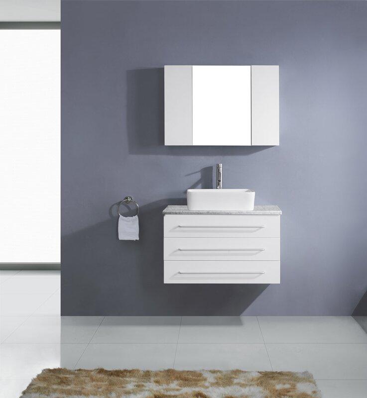 "Ultra Modern Bathroom Vanities virtu usa ultra modern series 33"" single bathroom vanity set with"