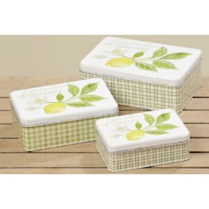 3-tlg. Boxen-Set Limone von Home Etc