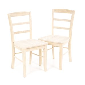 Brianne Solid Wood Dining Chair Set Of 2 Unfinished