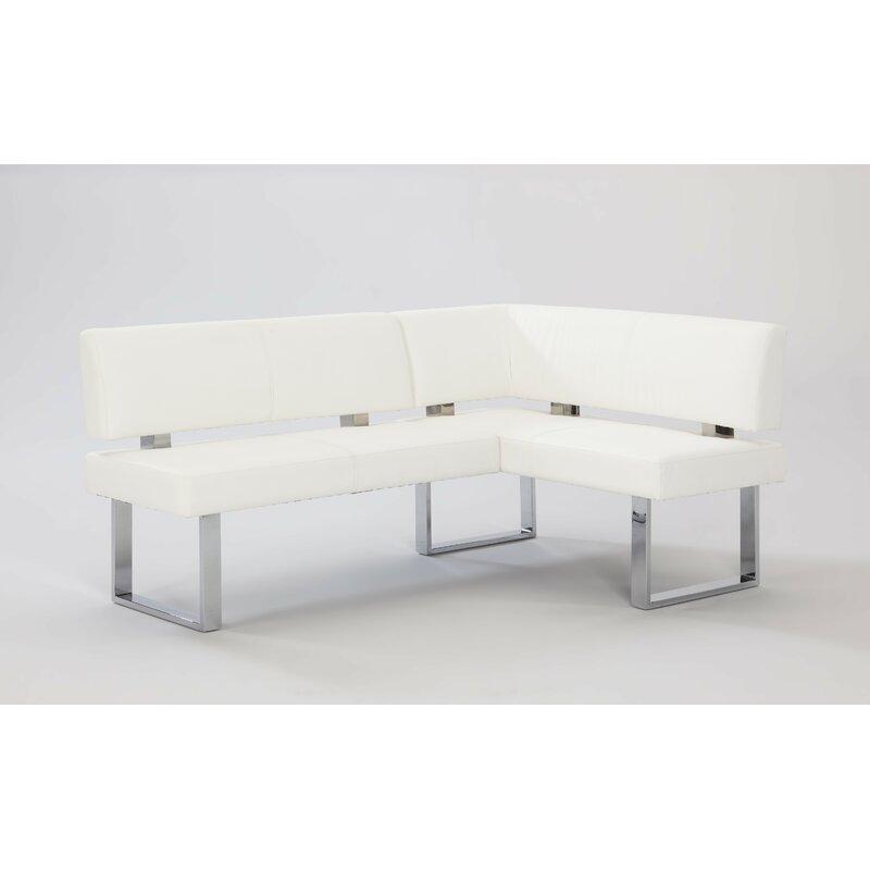 Awe Inspiring Wade Logan Broderick Upholstered Faux Leather Corner Bench Theyellowbook Wood Chair Design Ideas Theyellowbookinfo