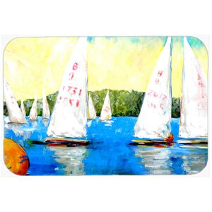 Sailboats Round The Mark Kitchen/Bath Mat