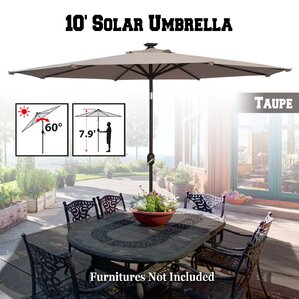Yasmin Solar Patio 10u0027 Market Umbrella