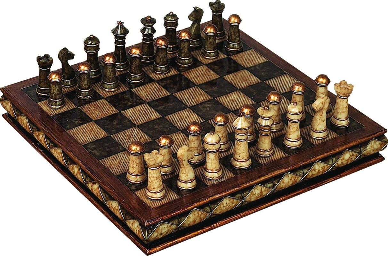 Decorative Chess Sets astoria grand fiarmont decorative chess set & reviews | wayfair