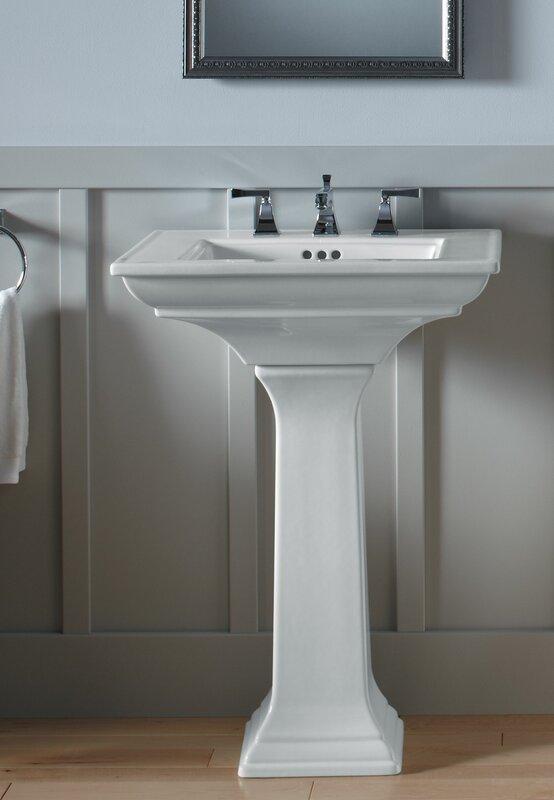 pedestal bathroom sinks. Memoirs  Ceramic 25 Pedestal Bathroom Sink with Overflow Kohler