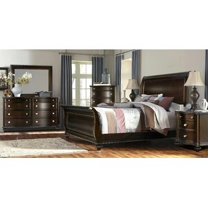 Delightful Sleigh 4 Piece Bedroom Set