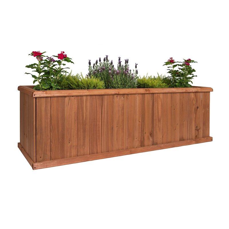 Wayfair Greenstone Garden Structures Churchill Cedar Planter Box