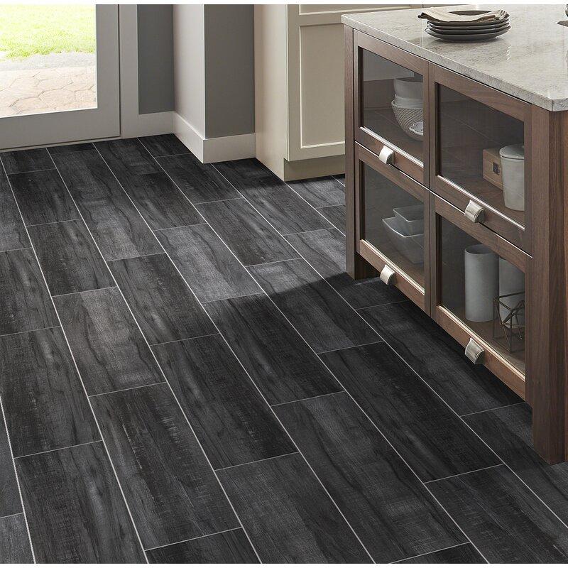 Msi Belmond Obsidian 8 X 40 Ceramic Wood Look Tile In Black Wayfair