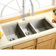 Avado 40 X 20 5 Stainless Steel Triple Bowl Undermount Kitchen Sink
