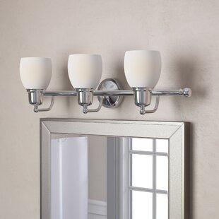 3d009ee7380 Satin Nickel Bathroom Vanity Lighting You ll Love