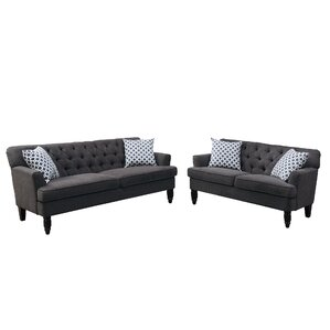 Bobkona Fostord 2 Piece Living Room Set by P..