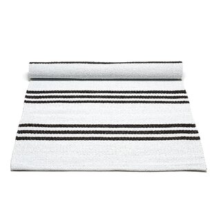 Handwoven White Outdoor Area Rug by Rug Solid