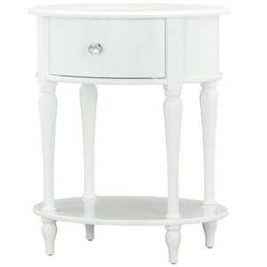 Rowan Valley Laren Oval 1 Drawer Nightstand