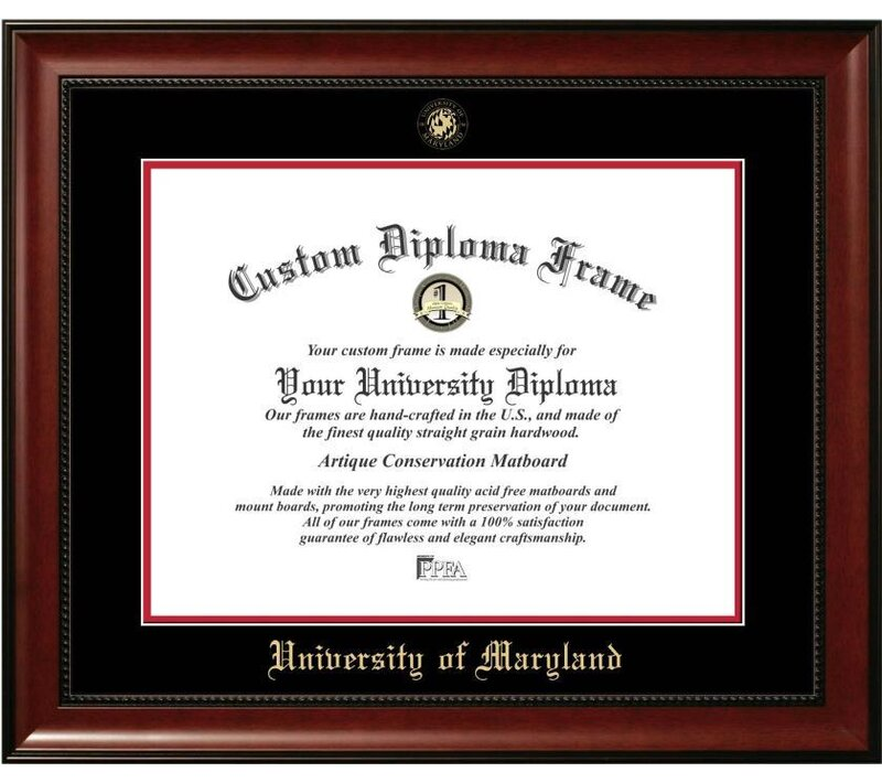 Diploma Frame Deals The Contemporary University of Maryland Picture ...