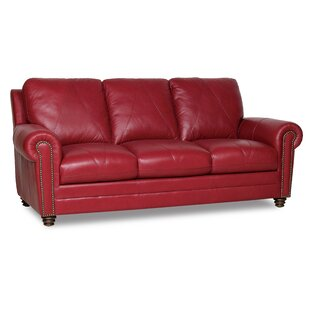Ordinaire Barnstormer Leather Sofa. By Red Barrel Studio