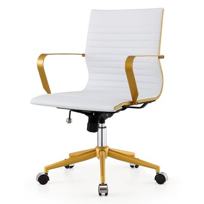 Mid-Back Office Chair & Reviews | Joss & Main on brown office chair, ergonomic office chair, walmart reclining office chair, director office chair, low office chair, mid century office chair, white office chair, sciatica office chair, executive office chair, coccyx office chair, faux leather office chair, eames office chair, managers office chair, swivel office chair, mesh back office chair, pink office chair, kneeling office chair, task office chair, high-back office chair, red office chair,