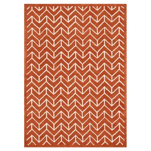 Brighton Hand-Tufted Tangerine Area Rug