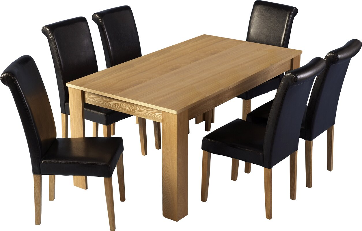 Home & Haus Solid Oak Upholstered Dining Chair & Reviews