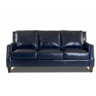 Blue Leather Sofas You\'ll Love in 2019   Wayfair