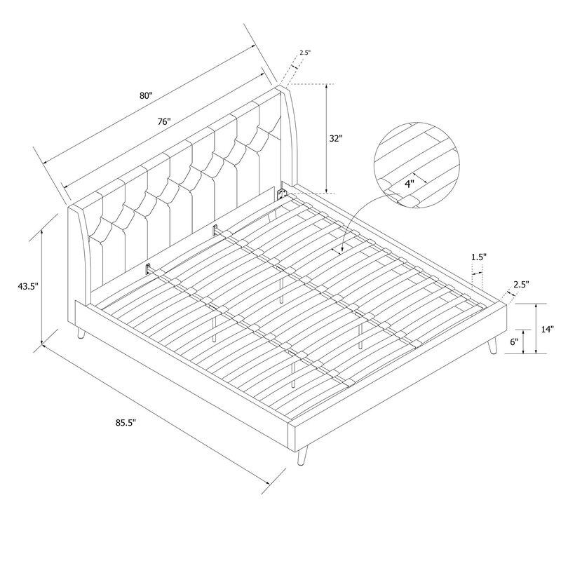 Novogratz Her Majesty Upholstered Platform Bed Reviews