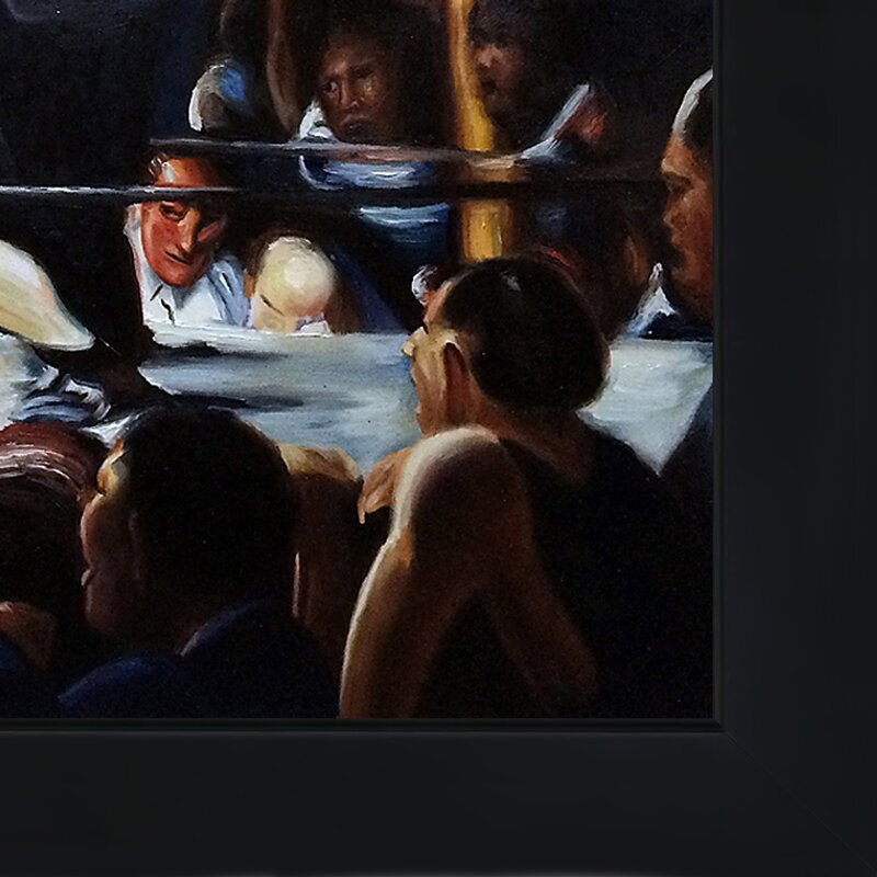 'Stag Night at Sharkey's' Oil Painting Print on Canvas