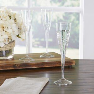 Wayfair Basics Plastic Champagne Flute (Set of 100)