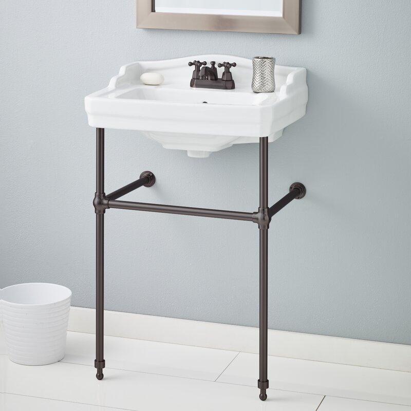 "Bathroom Sinks Essex cheviotproducts essex 24"" console bathroom sink with overflow"