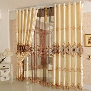 Nature/Floral Blackout Grommet Single Curtain Panel