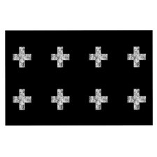 Swiss Cross by Skye Zambrana Fleece Throw Blanket