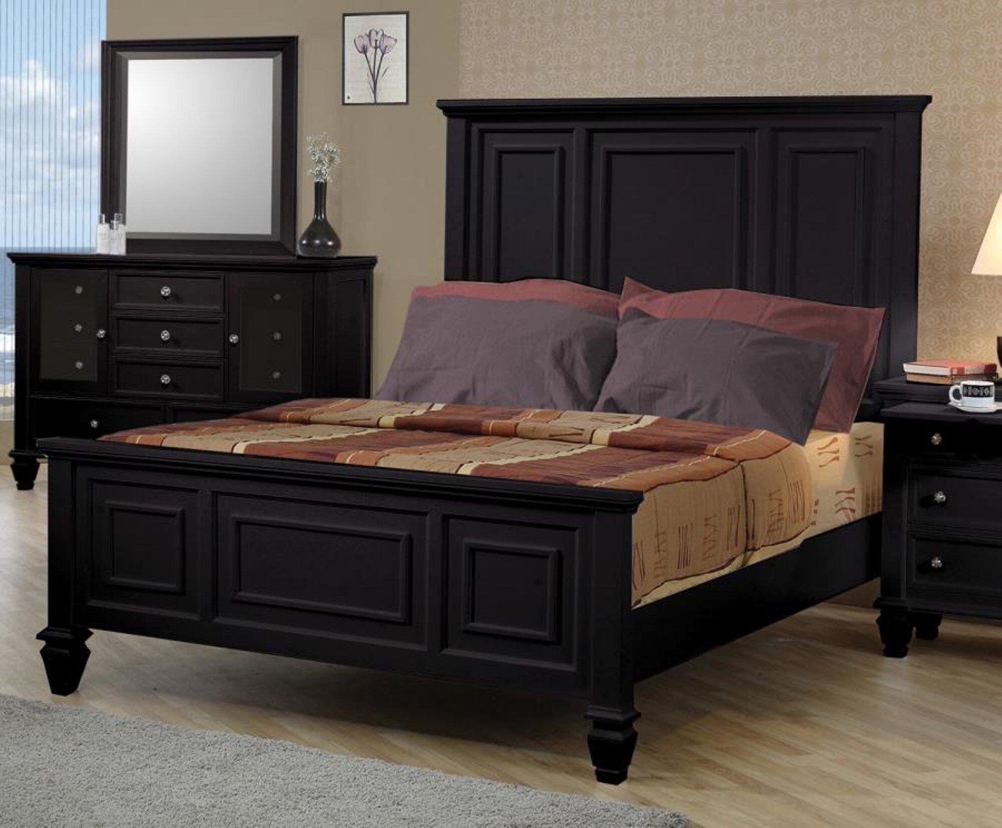 Darby Home Co Ellis High Headboard Panel Bed Reviews Wayfair