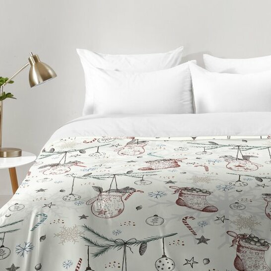 East Urban Home Squirrel Heavenly Christmas Comforter Set