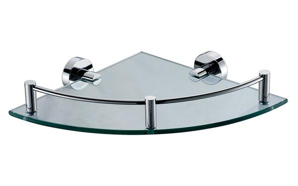 Alfi Brand ALFI Brand AB9546 Polished Chrome Corner Mounted Glass Shower  Shelf Bathroom Accessory | Wayfair