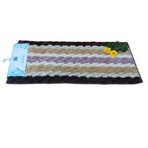 Brown Striped Doormat