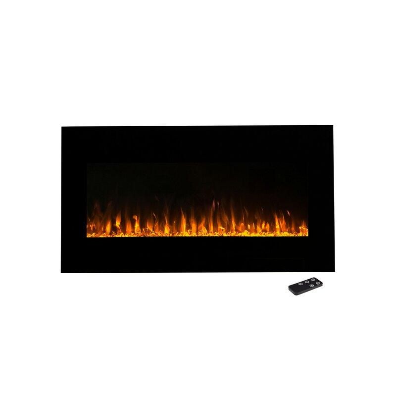 Wade Logan Aida Wall Mounted Electric Fireplace Reviews Wayfair