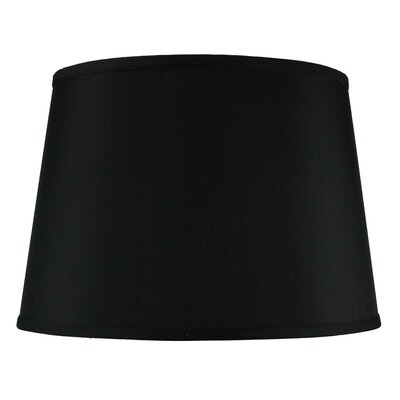 Alcott Hill Traditional 16 Shantung Drum Lamp Shade Color: Black