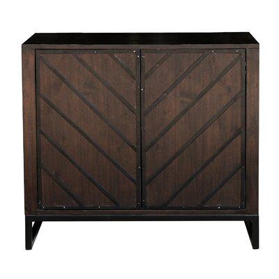 Brayden Studio Leonia 2 Door Accent Cabinet Color: Brown