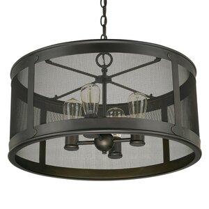 Calvin 4-Light Old Bronze Outdoor Pendant