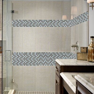 Majestic Ocean Glass Mosaic Tile In White