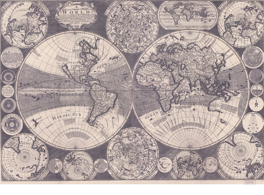World Map Wall Mural Swag Paper World
