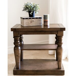 Sainte-Rose Wood End Table by Laurel Foundry Modern Farmhouse
