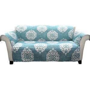 Stroudsburg Box Cushion Sofa Slipcover by Three Posts