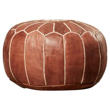 chenault pouf leather ottoman - Leather Pouf