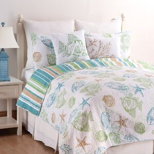 Buy Reef Point Cotton Reversible Quilt Set!
