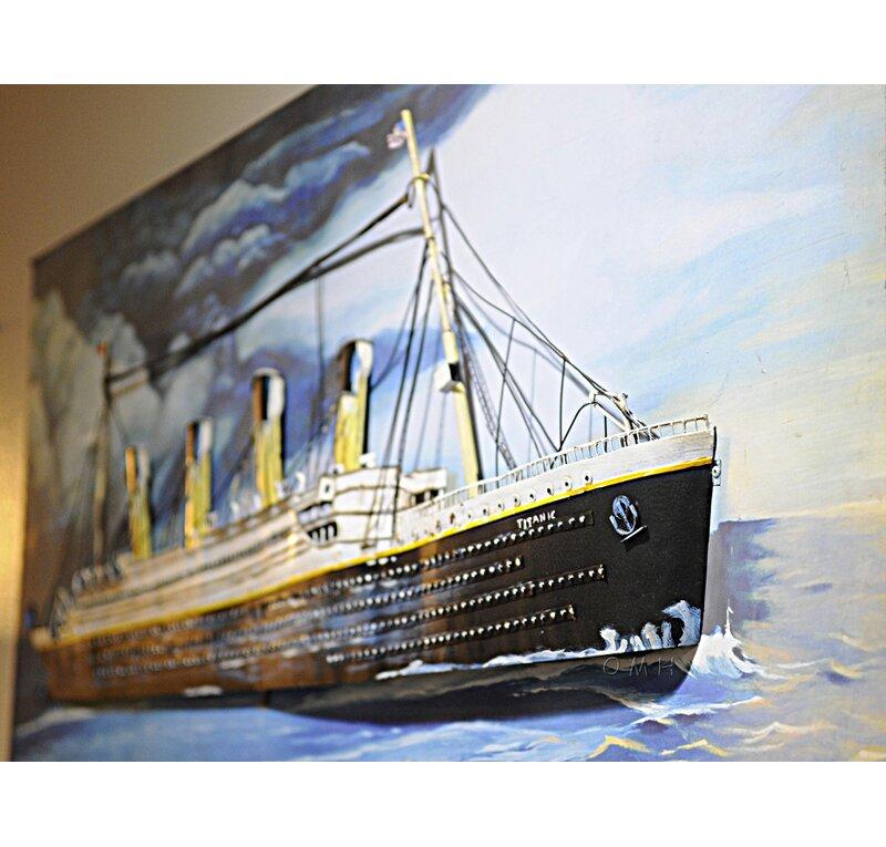 Titanic 3D Painting Wall Décor  sc 1 st  Wayfair & Old Modern Handicrafts Titanic 3D Painting Wall Décor   Wayfair